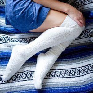 Peony & Moss | Alpaca wool blend OTK socks